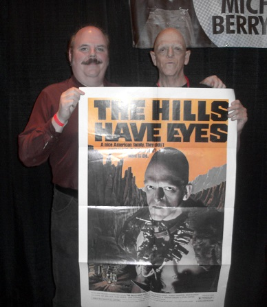 Ed Tucker with Pluto himself, Michael Berryman.