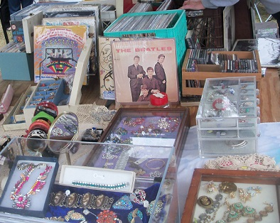 It wouldn't be an antique show without a few overpriced Beatles' albums and jewelry!