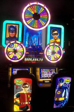 My favorite slot machine from my 2015 Vegas trip was the awesome 1966 Batman television show one.  The similar one from the 70's Wonder Woman show was a close second.