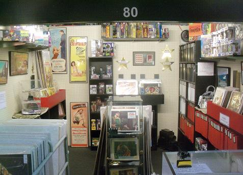 Buddy Barnett's impressive movie memorabilia booth at the Antiques at the Market antique mall.
